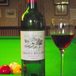 A nice drop of Chateau Billard always helps the game!