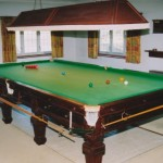 Superb Burroughs and Watts steel block traditional Billiards /Snooker table recently restored and installed in private home.